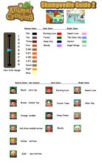 Animal Crossing New Leaf - Hair Color Guide | ACNL Guide ...