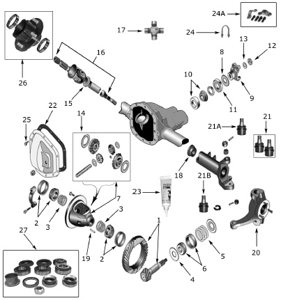 17 Best images about Jeep Front Axle Parts on Pinterest