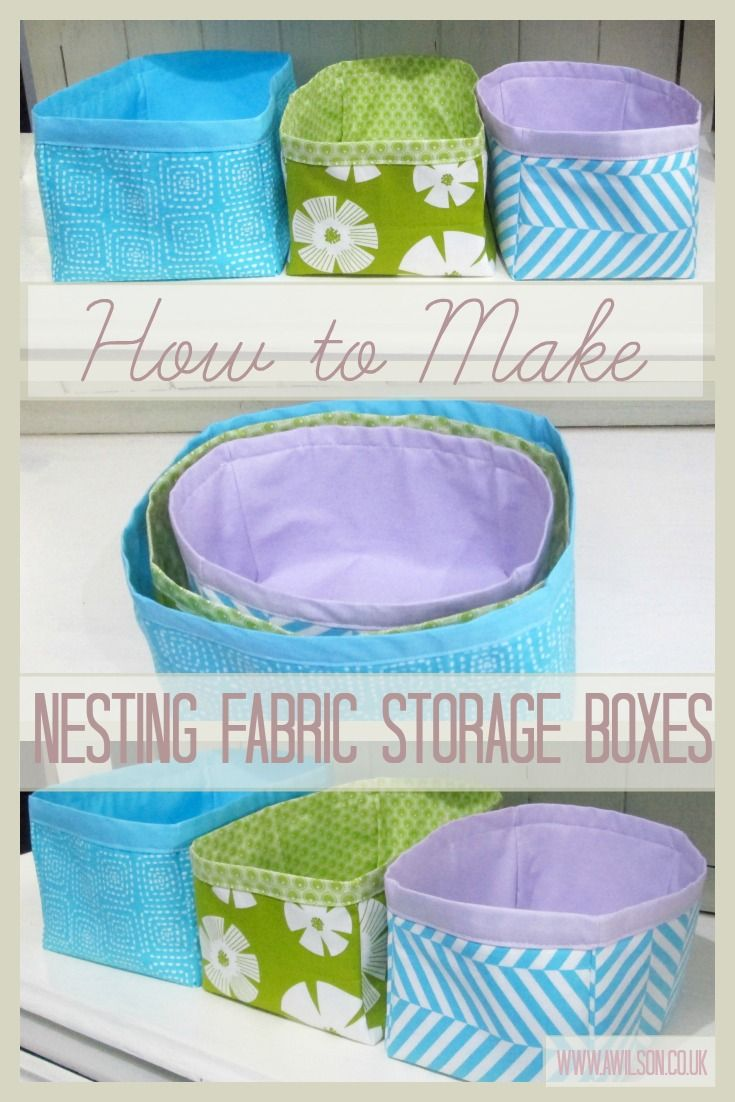 Easy Sewing Tutorial For Fabric Nesting Boxes How To