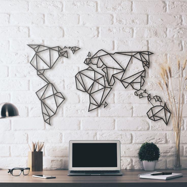 Metal Deco  World Map  Hoagard  Metal Deco  Pinterest