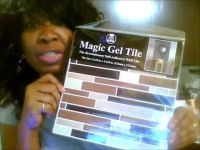 Family Dollar Store - Magic Gel Tile Kitchen Wall Makeover ...