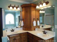 cabinet on L shaped vanity | Bathrooms | Pinterest ...