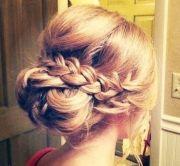 braided updo prom