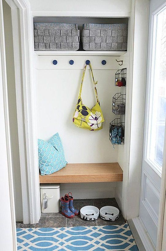 Mudroom Organization Ideas for Small Entryways  Space space Entryway and Therapy