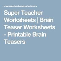 17 Best ideas about Printable Brain Teasers on Pinterest ...