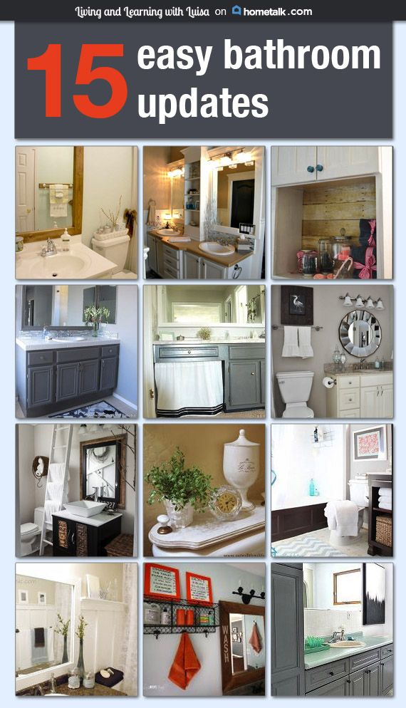 25 best ideas about Easy Bathroom Updates on Pinterest  Framing a mirror Bathroom mirrors and