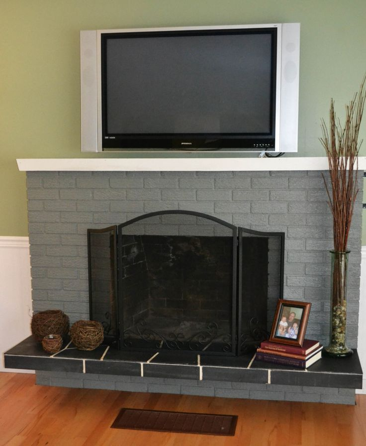 1000 ideas about Update Brick Fireplace on Pinterest  Brick Fireplaces Painted Brick