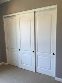 sliding closet doors three panel