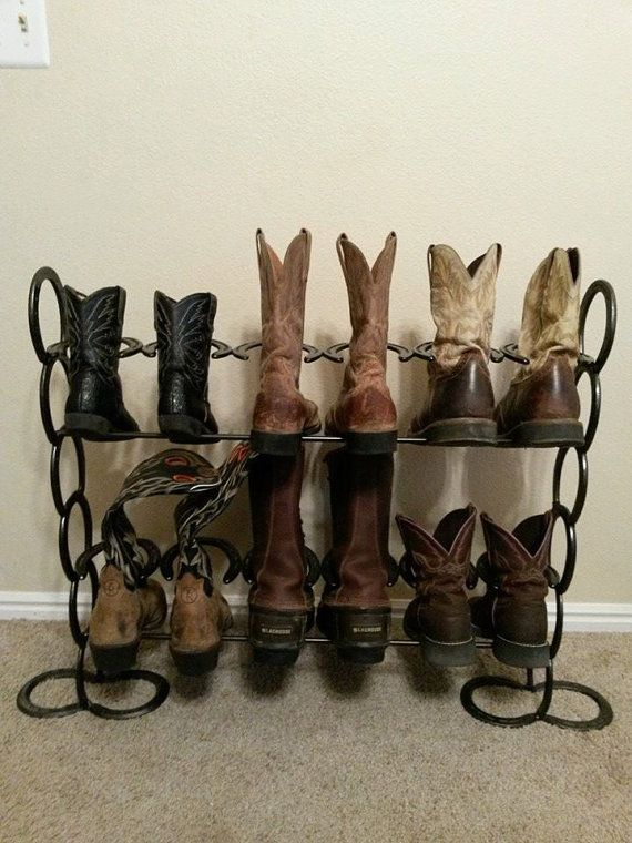 Horseshoe Boot Rack By Huntinghomedecor On Etsy 5000
