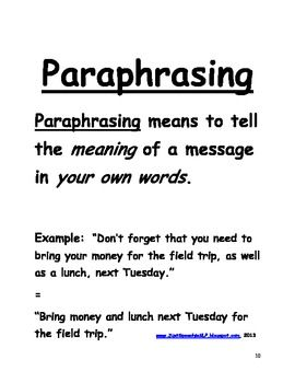 35 best images about paraphrase/summary on Pinterest
