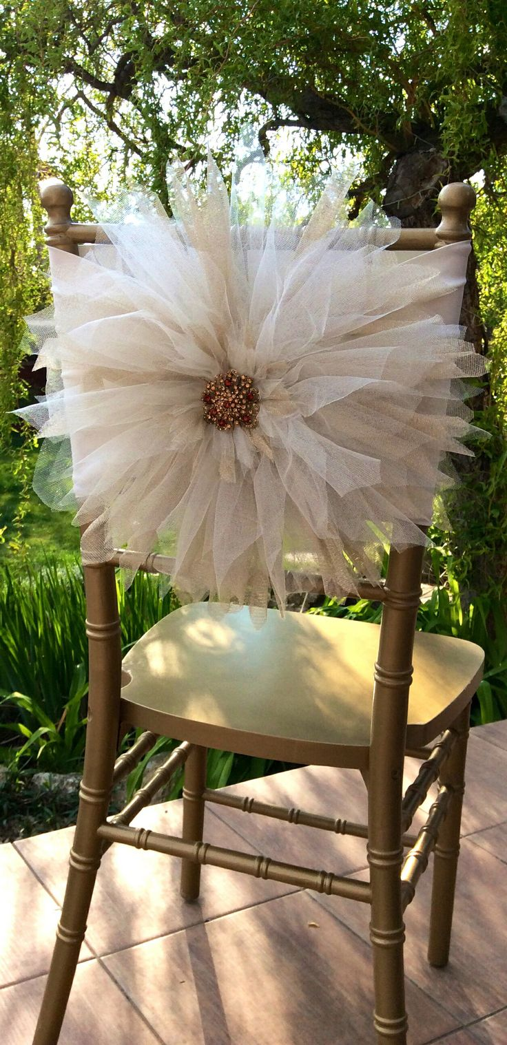 New tulle chair decoration  by FloraRosa Design
