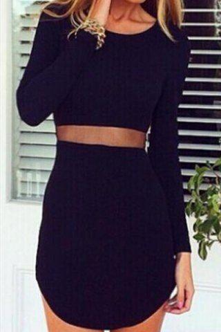 Asymmetrical See-Through Dress