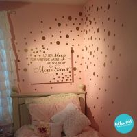 25+ best ideas about Gold dot wall on Pinterest
