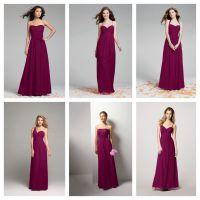 Sangria color bridesmaid | Lisa's Wedding | Pinterest ...