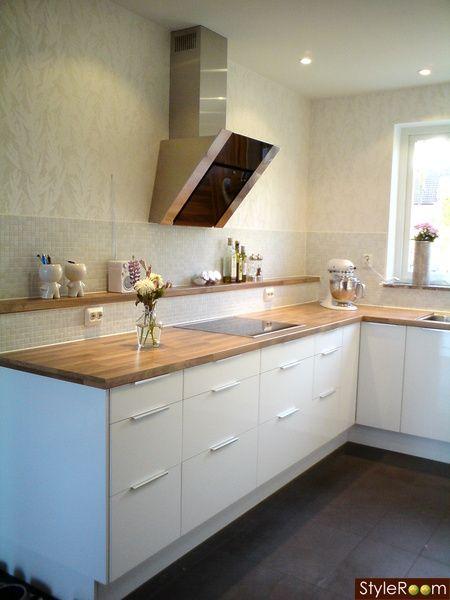 kitchen decor yellow island with range top ljus valnöt, ikea   kök pinterest