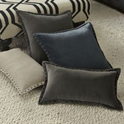 Gray Velvet Sofa With Nailheads Indian Settee Studded Pillow Cover $34.00 – $39.00 • Hand ...