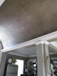 Barrel Ceiling with metallic glazing | Master Bedroom ...