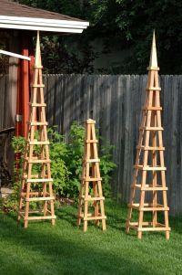 206 best images about Wooden Garden Obelisks on Pinterest ...
