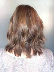 beachy brunette cut and style