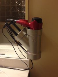 PVC Pipe hair dryer and curling iron/straightener holder ...