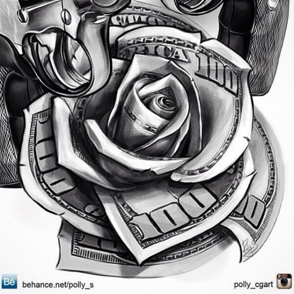 ac050f000 20 Roses Made Out Of 100 Dollar Bills Tattoos Ideas And Designs