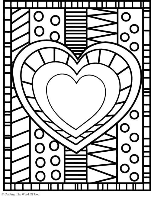 Heart (Coloring Page) Coloring pages are a great way to