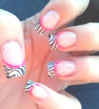 1000+ ideas about Zebra Acrylic Nails on Pinterest ...
