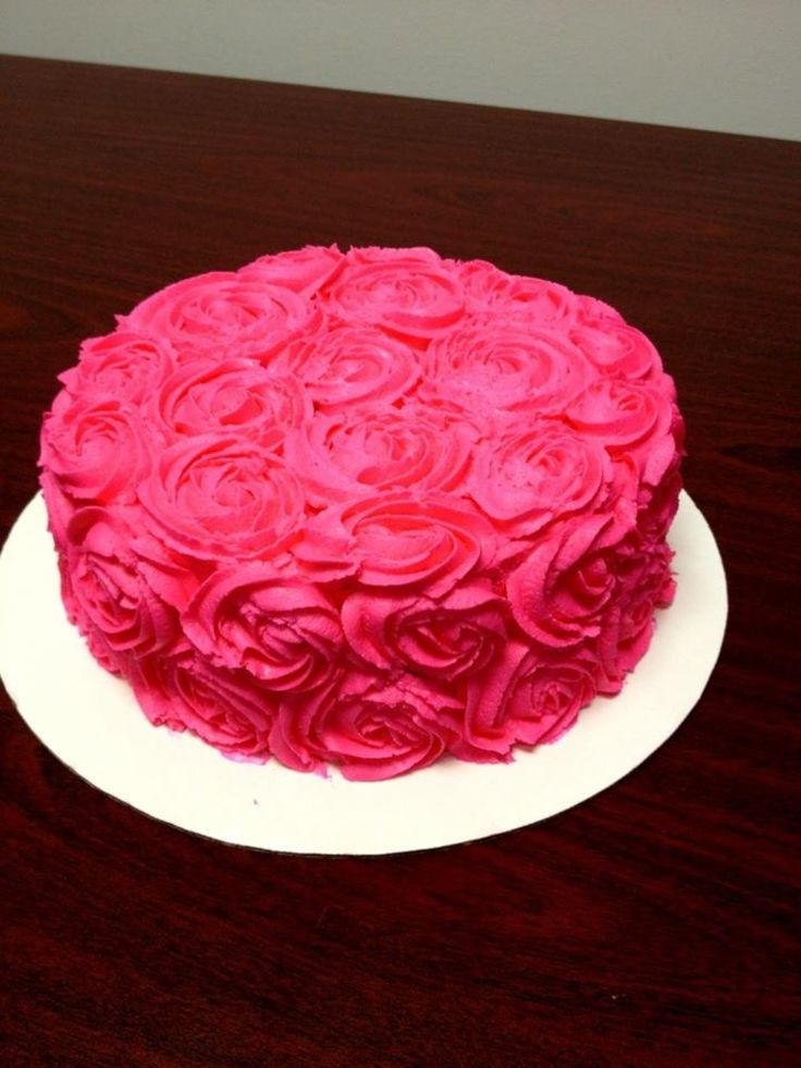 17 Best Ideas About Pink Rose Cake On Pinterest Rose