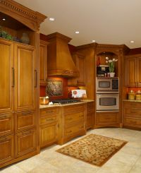 Nice wooded custom cabinets done by LaFata located in ...