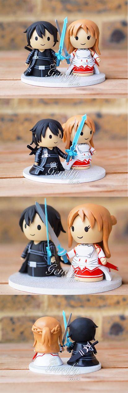 Sword Art Online Kirito And Asuna Anime Wedding Cake