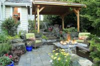 Lovely Pacific Northwest partially covered patio, with ...
