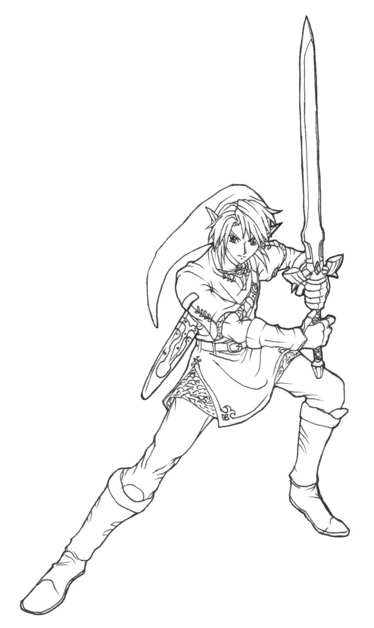 106 best images about Lineart: Zelda & Link on Pinterest