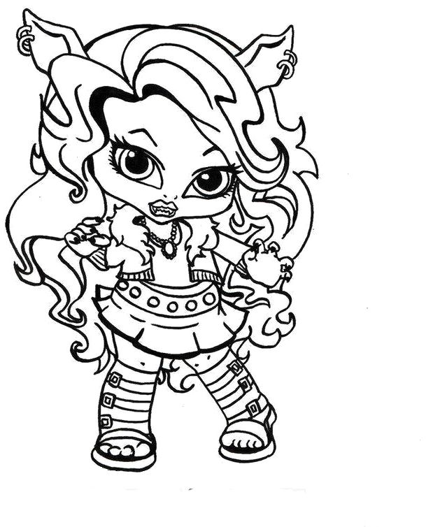 Monster High Crescent Coloring Page