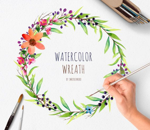 Fall Feather Wood Wallpaper Watercolor Hand Painted Wreath 1 Png Individual Files