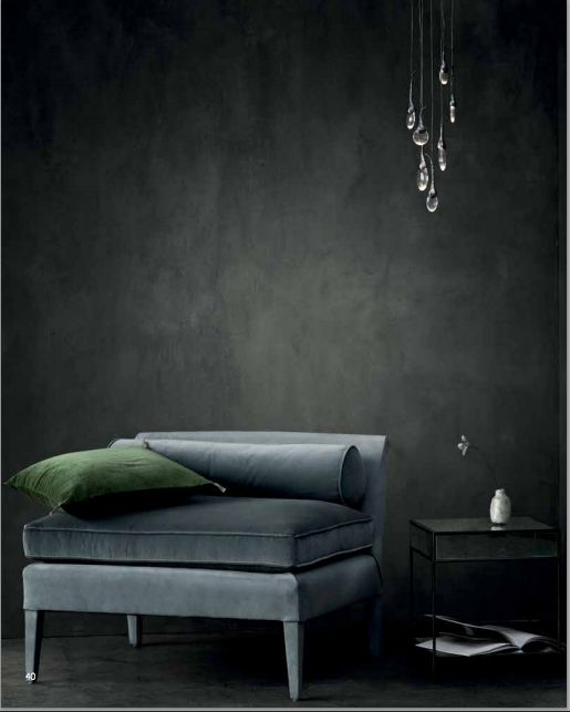 grey velvet slipper chair nailhead wingback 17 best ideas about dark walls on pinterest | walls, painted and ...