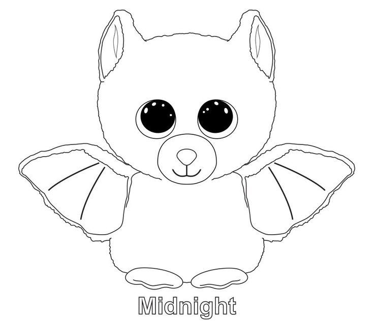 Midnight The Bat TY Beanie Boo Ty Beanie Boos
