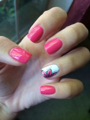 summer nails 2014 flower style