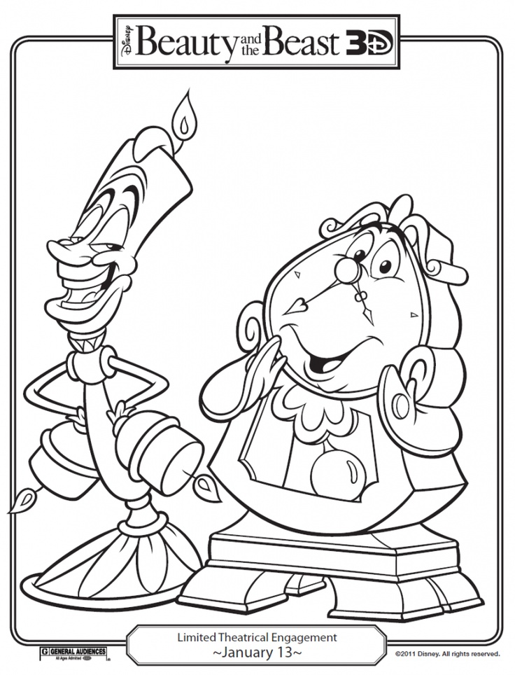 42 best Coloring Pages/LineArt-Disney-Beauty and the Beast