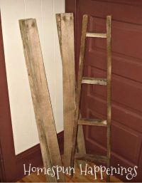 Rustic Ladder Quilt Rack