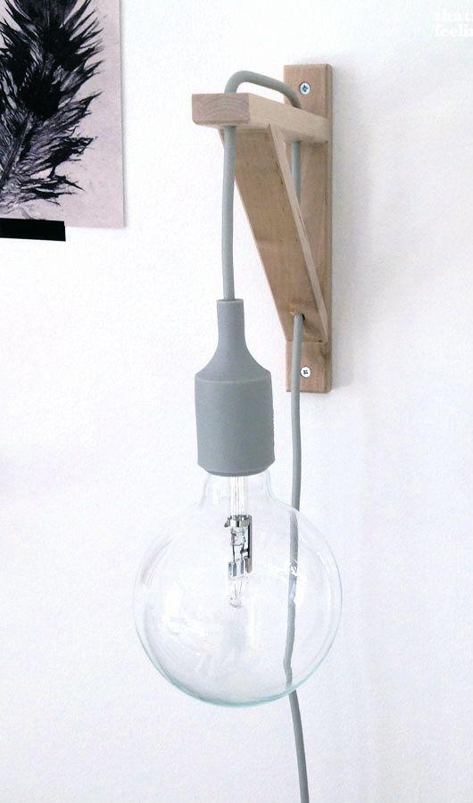 DIY muuto lamp holder with ikea bracket  diy  Pinterest