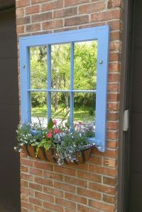 Mirror Planter Ideas Garden decorations old windows