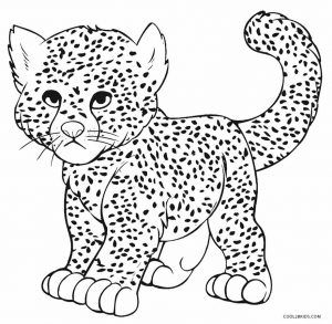 Cheetah Coloring Pages. Free Coloring pages for Kids