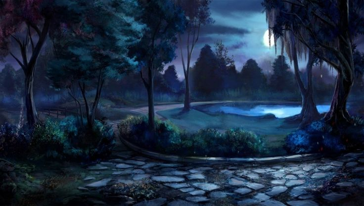 Gravity Falls Iphone 5 Wallpaper Moon Garden At Night Willow Tree Lane At Night Flowers