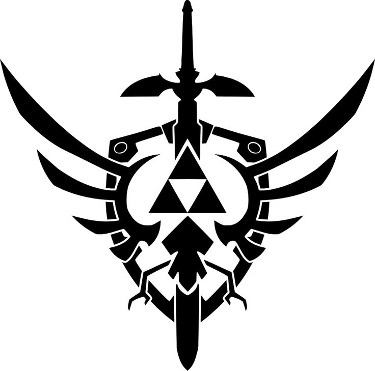 Zelda triforce, master sword and shield. Cool idea for a