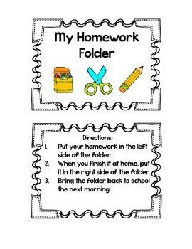 25+ best ideas about Homework folder labels on Pinterest