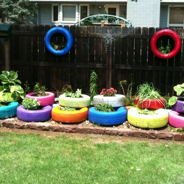 257 Best Images About Recycled Tyre Ideas For The Garden On