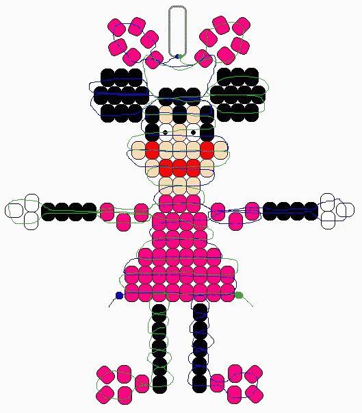 Disney Keychain Bead Pony