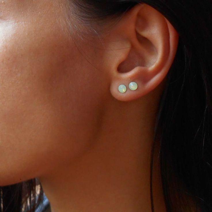 25+ best ideas about Double pierced earrings on Pinterest