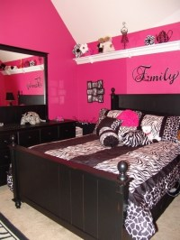 Pink and black bedroom | For the Home | Pinterest | Black ...