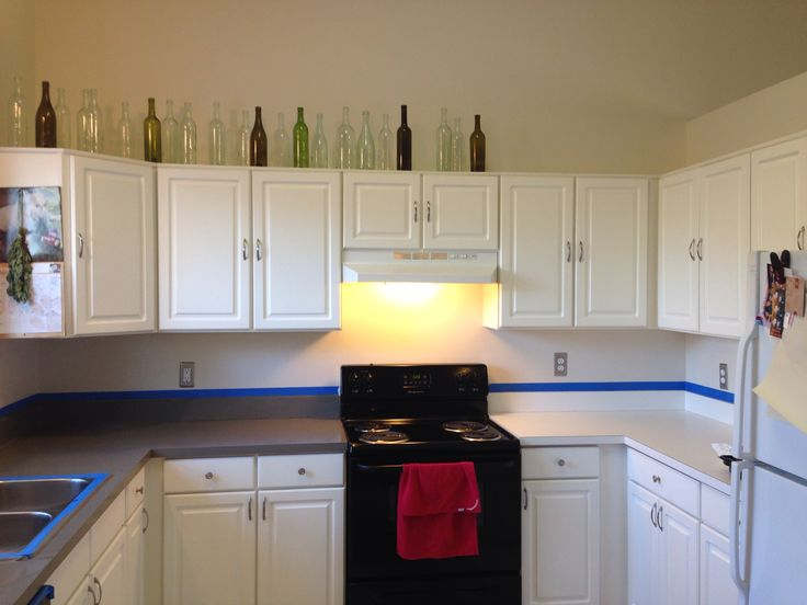 how to redo kitchen cabinets on a budget pendant lighting for island ideas two hours and $20 new countertops! rust-oleum ...